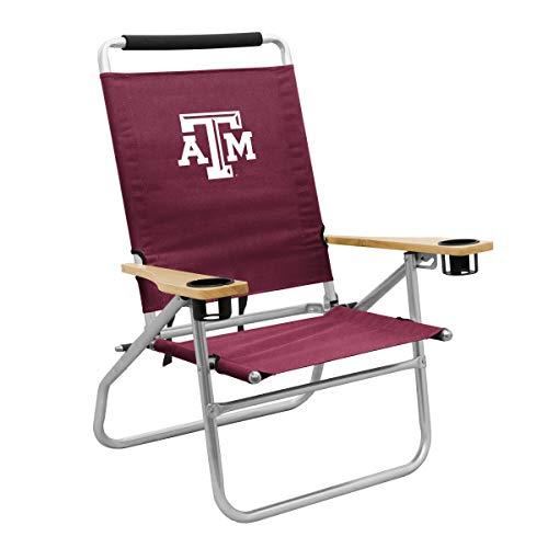 Logo Brands TX A&M Beach Chair, Team Color, One Siz