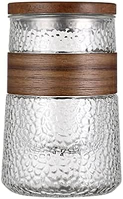 Jacksonville Mall Classic Vertical Striped Glass Tea Bamboo handleles With Deluxe Lid Cup