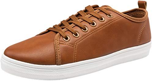 JOUSEN Men's Casual Shoes Brown Sneakers for Men Memory Foam Simple Casual Fashion Sneaker (7,Brown)