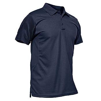 MAGCOMSEN Polo Shirts for Men T Shirts Golf Shirts Fishing Shirts Tactical Polo Short Sleeve Dad Shirt Mens Summer Shirts Army Shirts Military T-Shirt Mens Casual Shirts