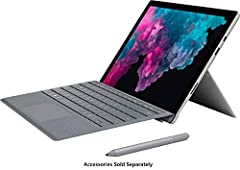 "Customize your optional Type Cover (without Type Cover or with Microsoft Surface Pro signature Type cover-platinum) High-resolution 12.3"" (2736 x 1824) PixelSense touchscreen LCD display, Intel HD Graphics 615 7th Generation Intel Core M3 dual-core p..."
