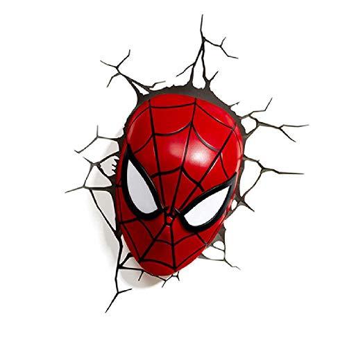 HY-L Miracle Avengers 3D LED wandlamp slaapkamer woonkamer creatief nieuw nachtlampje voor Iron Man Spider-Man Green Giant Captain America