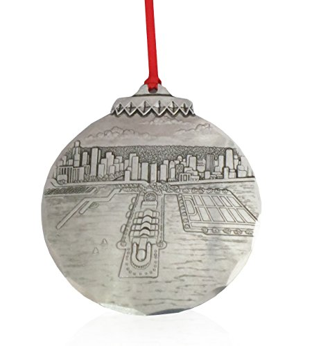 Wendell August City of Chicago Ornament, Metal, Handmade in The USA Forge