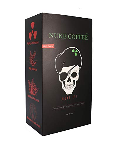 NUKE COFFEE Whole Beans 16 Oz, Arabica and Robusta Strongest &...