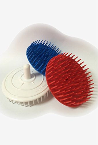 Haarkardätschen Massagebürste Rundbürste Haarbürste rund 3 Stück farblich sortiert