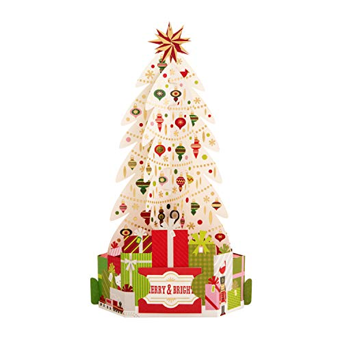 Pop-Up 3D Christmas Card From Hallmark - Paper Wonder Christmas Tree Design