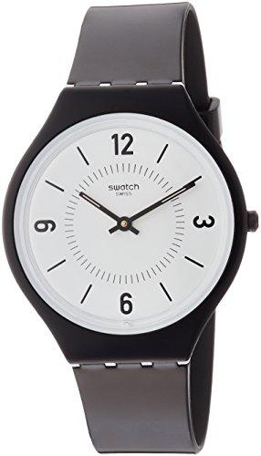Swatch Damen Analog Quarz Uhr mit Plastik Armband SVOB101