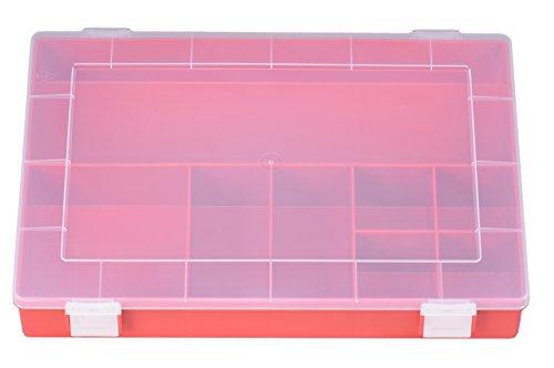 hünersdorff Sortimentskasten: stabile Sortierbox (PP-Classic) mit fester Fachaufteilung (8 Fächer), Sortierkasten-Maße: T225 x B335 x H55 mm, Made in Germany