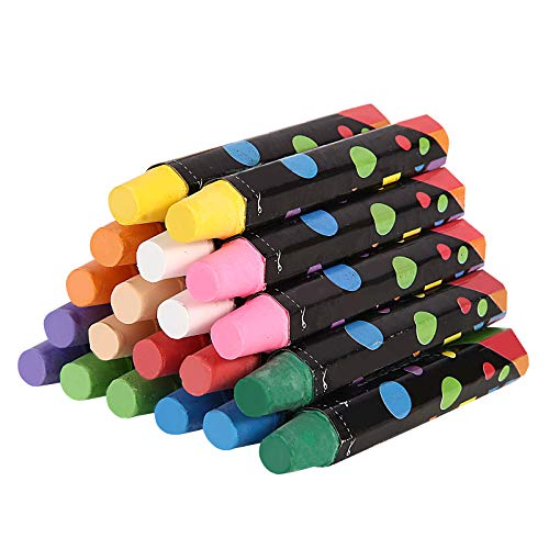 Healthy Chalkboard Dustless Non-Toxic Chalk Washable Waxy Pastel Chalks for Kids 20PCS Crayon Set Colored Art Paint on Blackboard, Playground and Room (10 Colors)