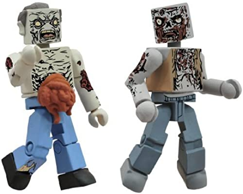 Diamond Select Toys Walking Dead Minimates Series 1  Herd Zombies, 2-Pack by Diamond Select