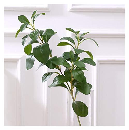 Künstliche Blumen 3D Drucken real Touch Ficus Baum zweige künstliche blätter Faux laub Dekoration gefälschte Blume plantas artificiais Green Leaf (Farbe : 1 Piece)