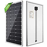 SOLPERK 100W Solar Panels 12V, Monocrystalline Solar Panel Kit with High Efficiency Module PV Power for Battery Charging, Off Grid Solar Panels for RV, Boat, Camper, Roof, Cabin, Shed