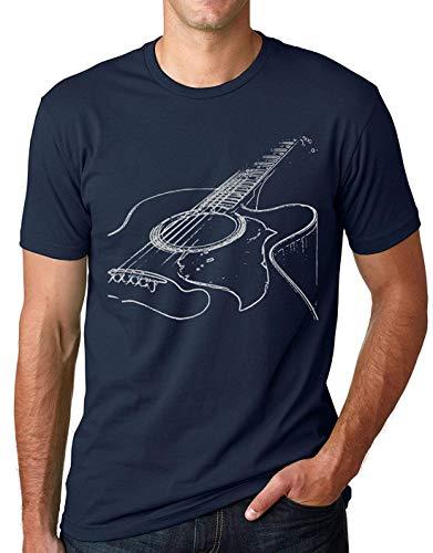 Camisa de Guitarra acústica Cool Musician tee T Shirt