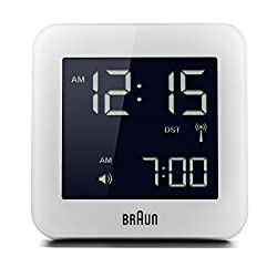 Braun BNC009WHI-RC Digital Quartz Alarm Clock
