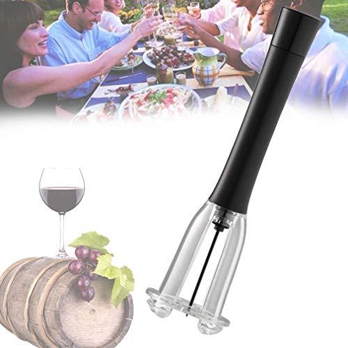 NKTJFUR Abridor de Botellas de la Bomba de presión de Aire de Vino, sacacorchos neumáticos de Acero Inoxidable con Herramienta Profesional de Tornillo Grande para los Amantes del Vino