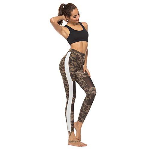 GDRFHJZ yogabroek hoge taille vrouwen ademende elastische fitness hardloopbroek camouflage dames effen maat casual leggings