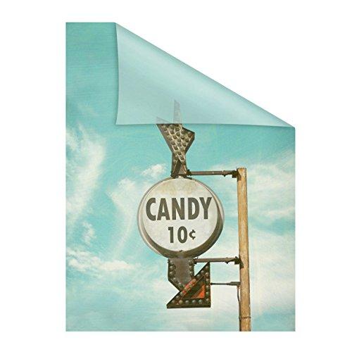 Lichtblick raamfolie zelfklevend, bescherming tegen inkijk, motief candy, blauw