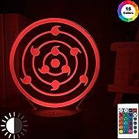 日本アニメナルトリンネガン万華鏡クールキッズナイトライトLED色変更タッチセンサーライト寝室テーブルランプギフト