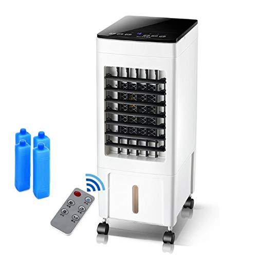 ZXYWW Raffrescatore Evaporativo, Ventilatore Portatile Senza Lama con Telecomando E 3 velocità del Vento, Funzione di Temporizzazione E Serbatoio dell Acqua Visibile, per Interni Domestici