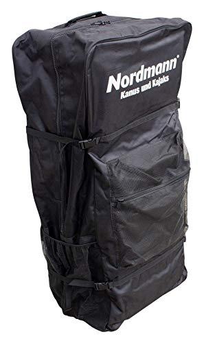 Nordmann® Rucksack-Transporttasche mit Rollen für Drop Stitch Kajaks, Stand Up Paddle Boards SUP, aufblasbare Boote, Schlauchboote, Luftboote