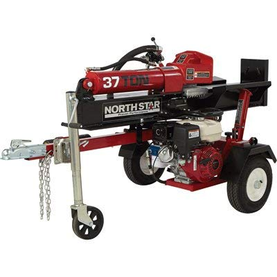 NorthStar Horizontal/Vertical Log Wood Splitter - 37-Ton, 270cc Honda GX270 Engine