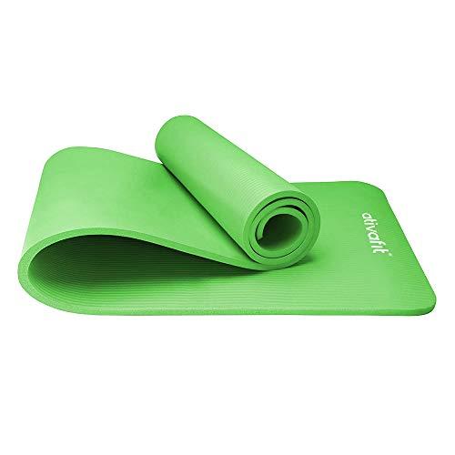 ATIVAFIT Phthalatfreie Yogamatte - rutschfest und gelenkschonend Sportmatte für Yoga Pilates Sport Fitnessmatte Gymnastikmatte mit Tragegurt Pilatesmatte 183 * 61 * 1 cm Trainingsmatte (Grün - 2)