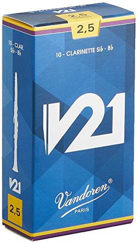 【セット買い】バンドーレンBクラリネットリードV21硬さ:2-1/2(10枚入り)&Bクラリネットリードトラディショナル2-1/2