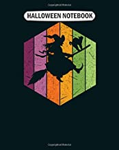 Halloween Notebook: cute silhouette of a flying witch with its stick College Ruled - 50 sheets, 100 pages - 8 x 10 inches