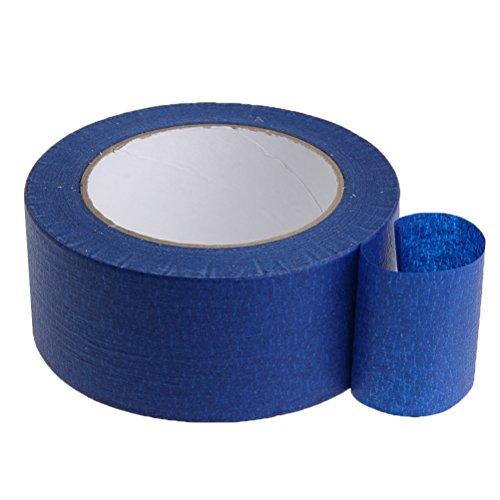 Ueetek Ruban de masquage Bleu 90 mm x 30 m Élimination de haute température résistante à la chaleur et résistante Pas de résidus de papier masquant pour imprimantes 3D