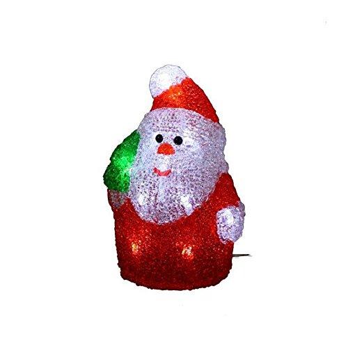Autour de Minuit 5SIL110BC Père Noël, Acrylique, Blanc, 10,5 x 10,5 x 17 cm