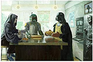 "Bucket Imperial Baking Party - Star Wars Darth Vader, Boba Fett, Darth Sidious Reproduction Gallery Wrapped Canvas Wall Art 12"" x 18"""
