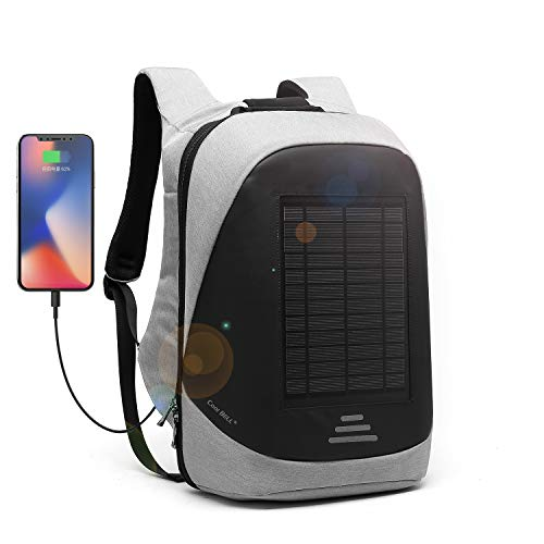 DTBG Solar Charger Backpack 15.6 Inch Laptop Backpack Multi-function Outdoor Backpack Anti-theft Business Bag