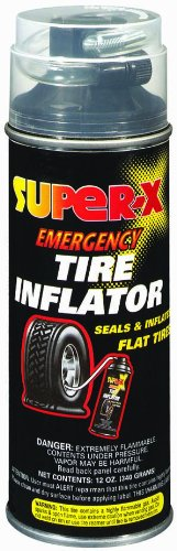 Super-X 660 Emergency Tire Inflator With Hose - 12-Ounce Aerosol Can
