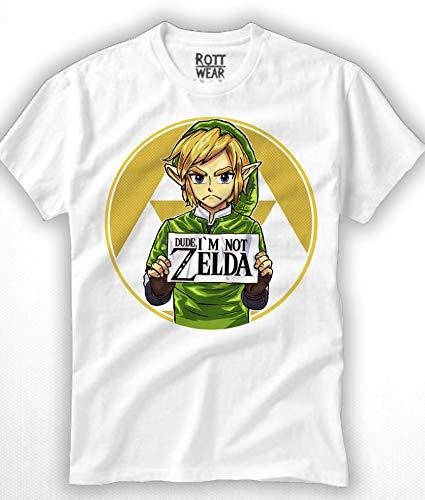 Dude I'm Not Zelda Playera Hombre Rott Wear