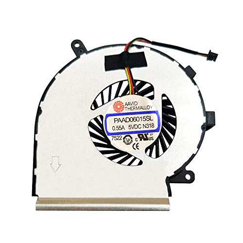 iHaospace PAAD06015SL Replacement Laptop CPU Cooling Fan for GE62 GE72 PE60 PE70 GL62 N303 Notebook Cooler Radiators