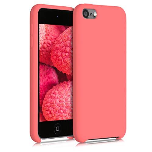 kwmobile Schutzhülle kompatibel mit Apple iPod Touch 6G / 7G (6. & 7.Generation) - Hülle Silikon gummiert - Cover Hülle in Neon Koralle