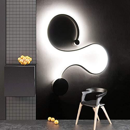 Luces de pared creativas nórdicas modernas, lámpara de sala de estar de acrílico LED Lámpara de pared de noche incluida Fuente de luz de luz de iluminación de decoración de pared [Clase de energía A +