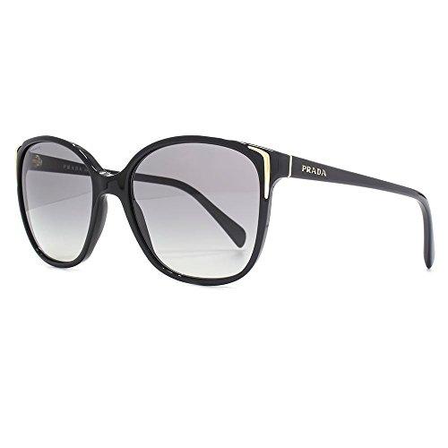 Prada Casual Square zonnebril in zwart PR 01OS 1AB3M1 55 Gradient Grey