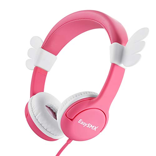 Pink Angel Wing Lovely Kids Headphones for Girls, Comfortable Wired Over...