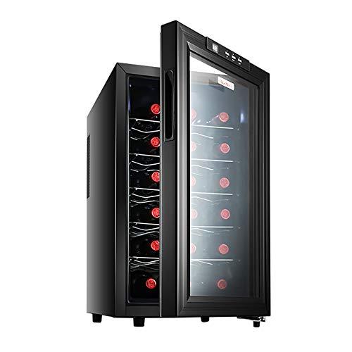 CLING Refrigerador de Vino Refrigerador Compresor de 18 Botellas Refrigerador de Vino Tinto Encimera Bodegas Independientes Viento frío sin Escarcha Bajo Nivel de Ruido para Home Bar