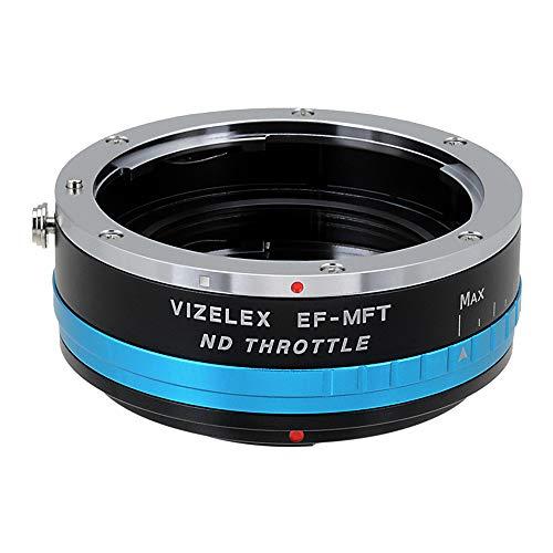Adaptador de montura de lente de densidad neutra Vizelex del acelerador de Fotodiox Pro - Canon EOS (EF, EF-S) para objetivos a Micro-4/Soporte de 3 cámaras (como OM-D E-M10, Lumix GH4, y Black Magic Pocket) - y e-readers de Variable de filtros de densidad neutra (nd2-nd1000)