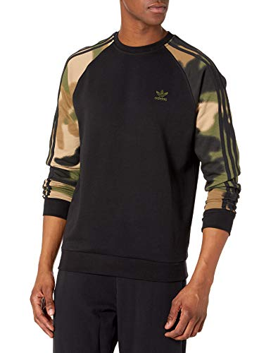 adidas Originals,mens,Camo Crew,Black/Wild Pine/Multicolor,XX-Large