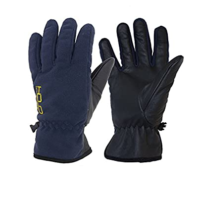 Winter Thermal Gloves Touch Screen 40g Thinsulate Genuine Goatskin Palm Water Repellent Soft Warm Sport Work Gloves 0-10°F Cold Proof for Men Women Kids