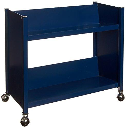 """Sandusky Lee SR227-A6 Sloped Shelf Welded Bookcase, 14"""" Length, 29"""" Width, 25"""" Height, 2 Shelves, Navy"""