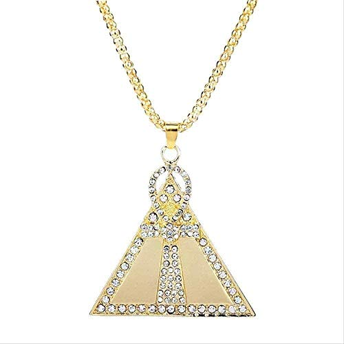 YUNQIYZH Co.,ltd Egyptian Nile Key Pyramid Necklace Stainless Steel Crystal Cross Pendant Necklace for Women Men Gifts Pendant Necklace Girls Boys Gift