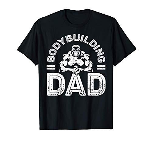 Bodybuilding Dad TShirt è un regalo per gli amanti del fitness / allenamento / palestra per il compleanno, festa del papà 2020, 4 luglio. Funny Monkey Vintage Design per sollevatore di pesi, allenatore, allenatore di palestra, body builder papà, papà...