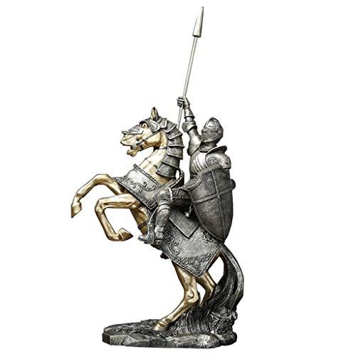 Medievale Soldato Modello Statua, Antico Romano Vittoria del Cavaliere Scultura Ufficio Governo del Vino Decorazione del Salone