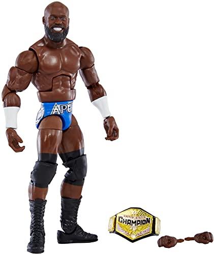 WWE Élite Figura de acción Apollo Crews, muñeca articulada de juguete con...