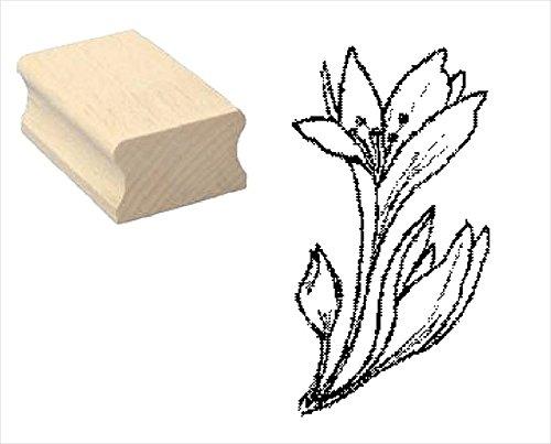 Stempel Holzstempel Motivstempel « HERBSTZEITLOSE » Scrapbooking - Pflanze