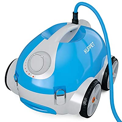 KUPPET Automatic Robotic Pool Vacuum Cleaner Ideal for Small/Medium Pools with a Flat Floor or Slope, Ultra Light